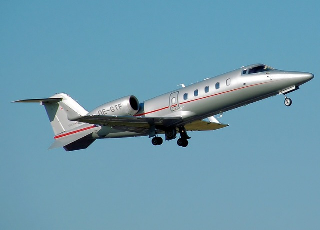 Learjet 60 jet aircraft, business finance.