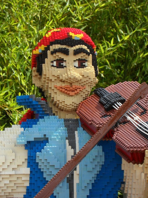 Legoland building blocks legos, people.