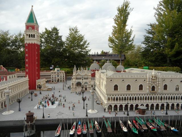 Legoland replica mini world, nature landscapes.