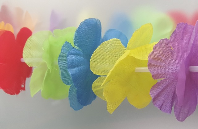 Lei flowers flowers garland, backgrounds textures.