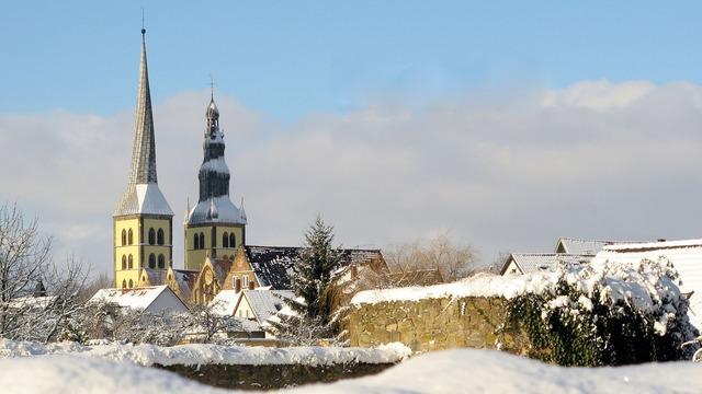 Lemgo church winter, religion.