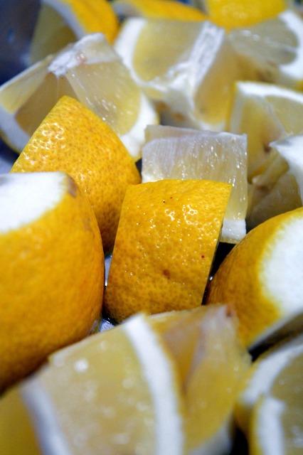 Lemon fruit fresh, food drink.