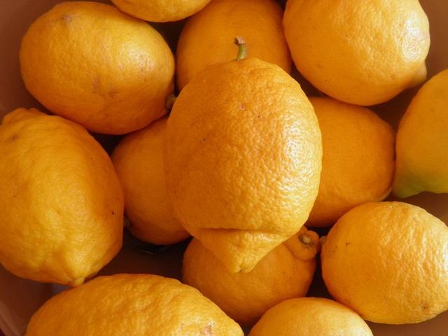 Lemon fruit yellow, food drink.