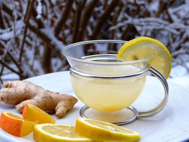 Lemon ginger orange, food drink.