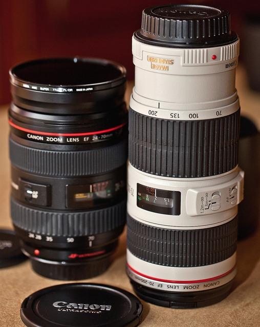Lenses photo equipment professional equipment.