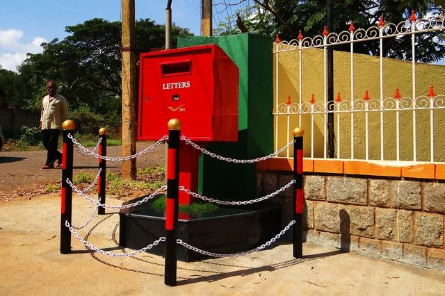 Letter box post box tv type, people.