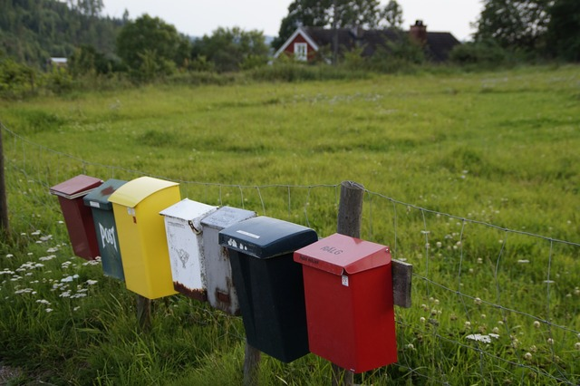 Letter boxes mailbox post.