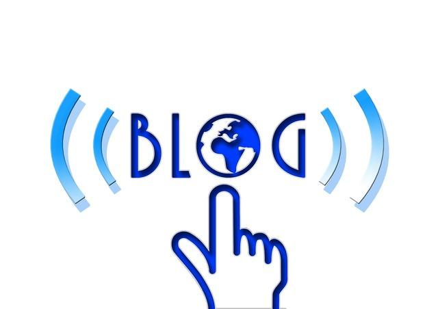Letters blog internet, computer communication.