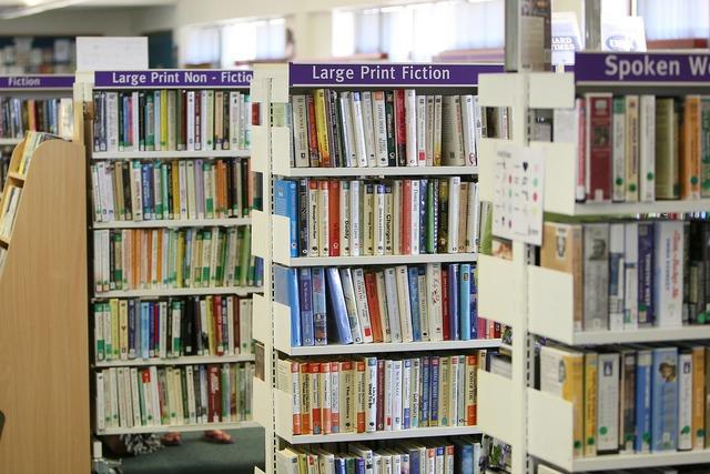 Library books shelves.