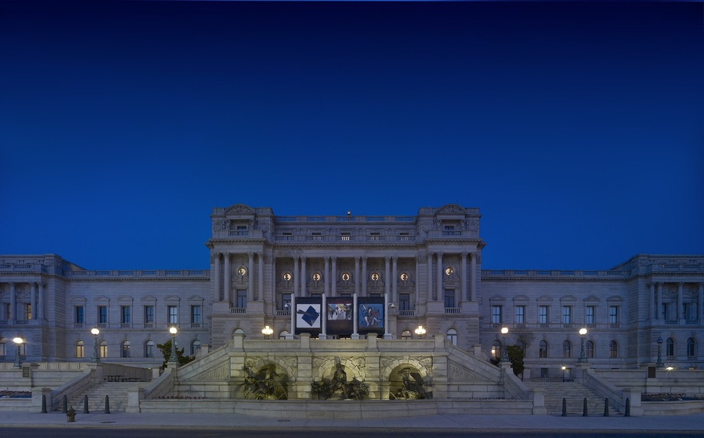 Library of congress night architecture, architecture buildings.