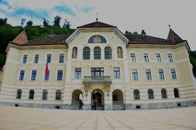 Liechtenstein parliament building, architecture buildings.