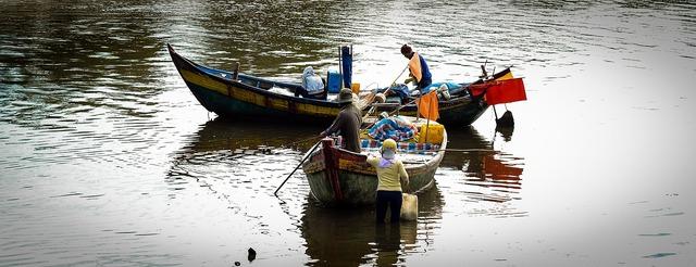 Life the sea vietnam, transportation traffic.