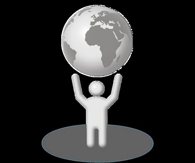 Lift world globe.