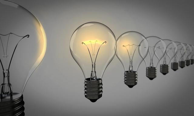 Light bulbs chosen bulb, science technology.