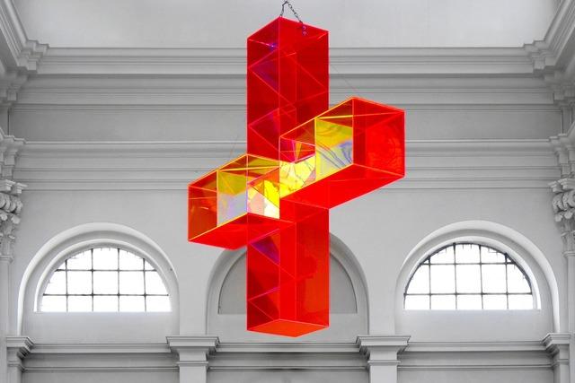 Light cross würzburg church, religion.