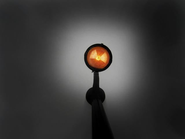 Light post lamp, transportation traffic.