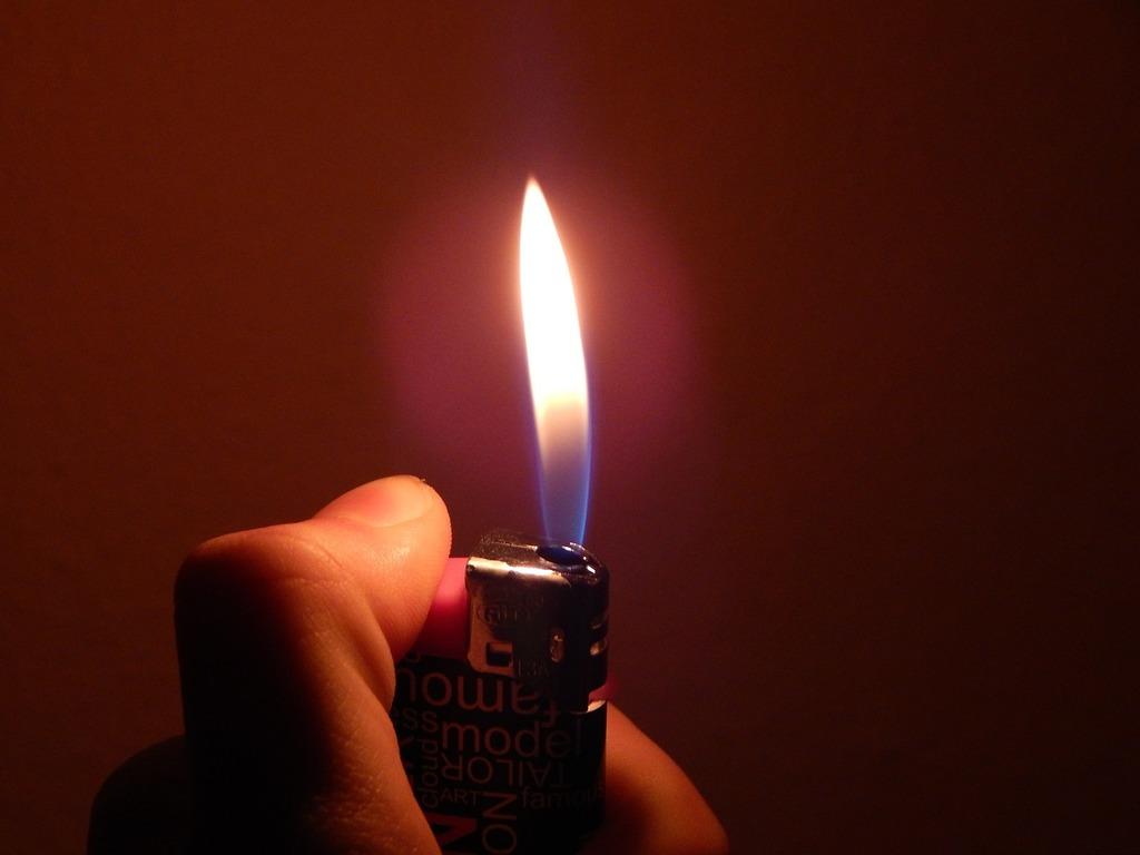 Lighter fire flame.