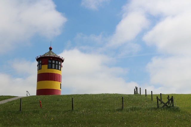 Lighthouse east frisia pilsum, travel vacation.