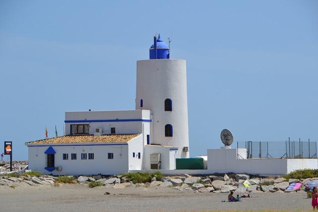 Lighthouse lantern spain summer.