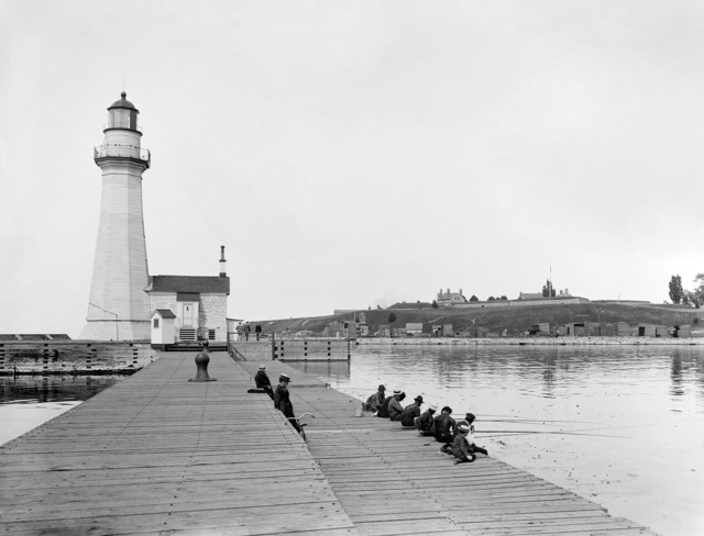 Lighthouse pier angler, architecture buildings.