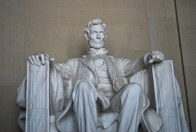 Lincoln memorial statue monument, architecture buildings.