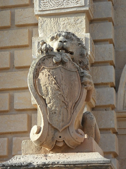Lion coat of arms heraldic animal.