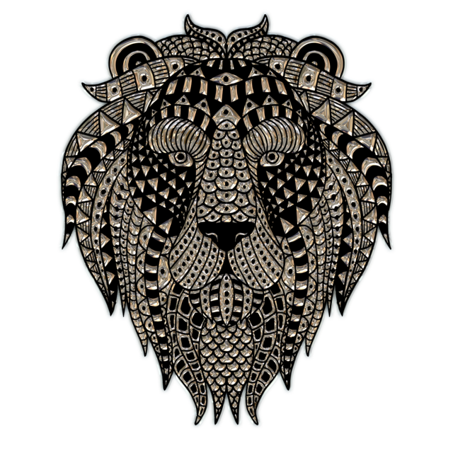 Lion head metallizer png.