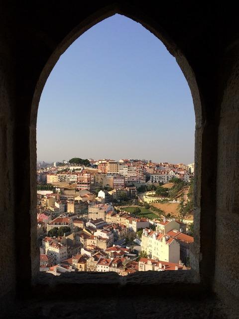 Lisbon castle portugal.