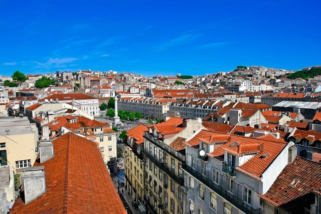 Lisbon portugal old town.