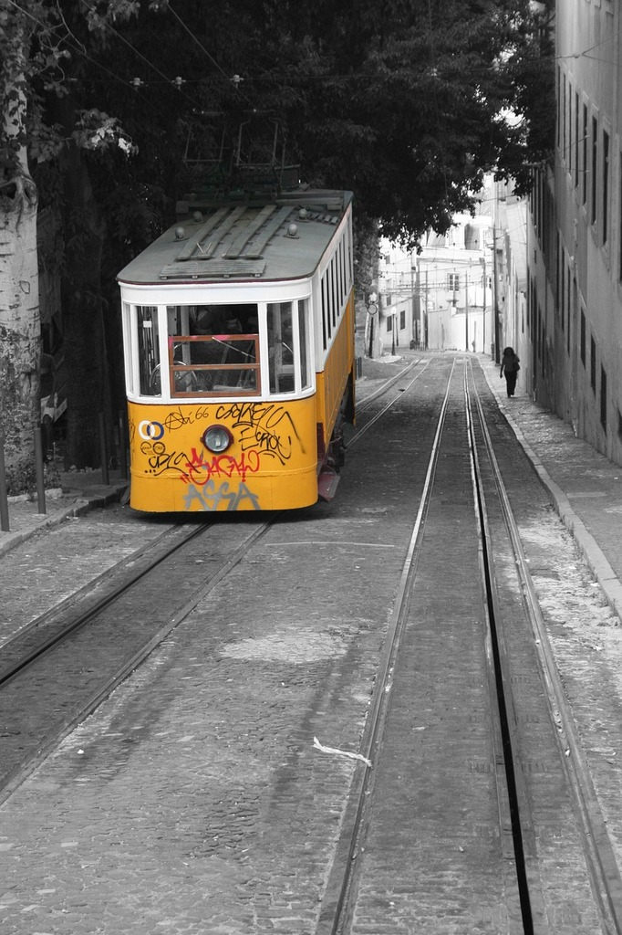 Lisbon portugal road, transportation traffic.