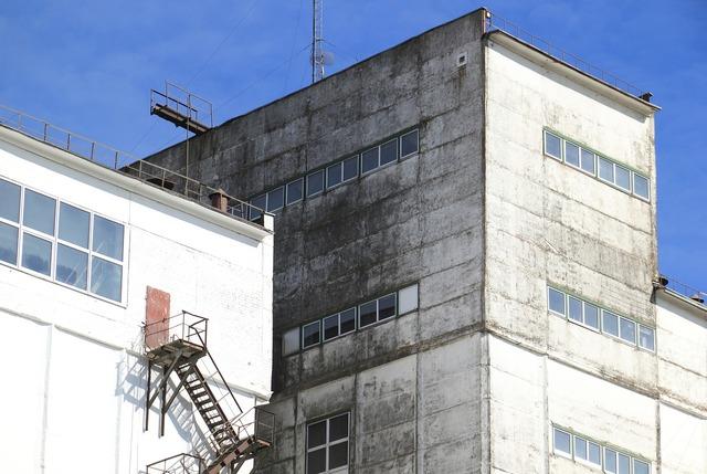 Lithuania factory building, architecture buildings.