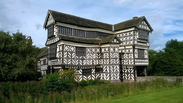 Little moreton hall cheshire old, architecture buildings.