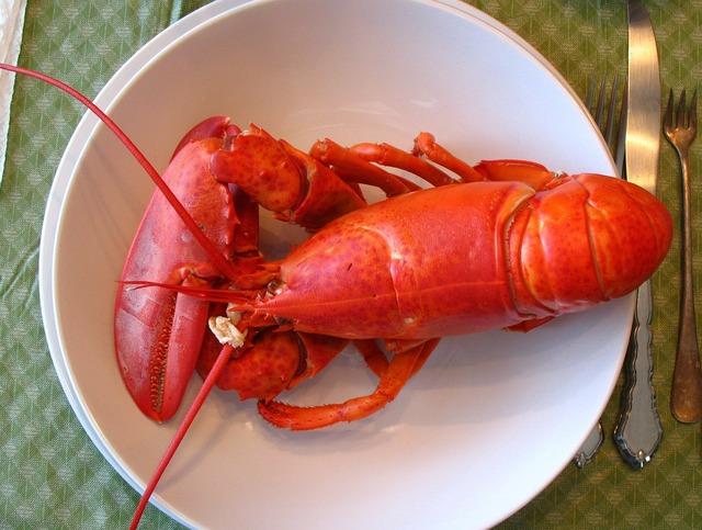Lobster maine dinner.