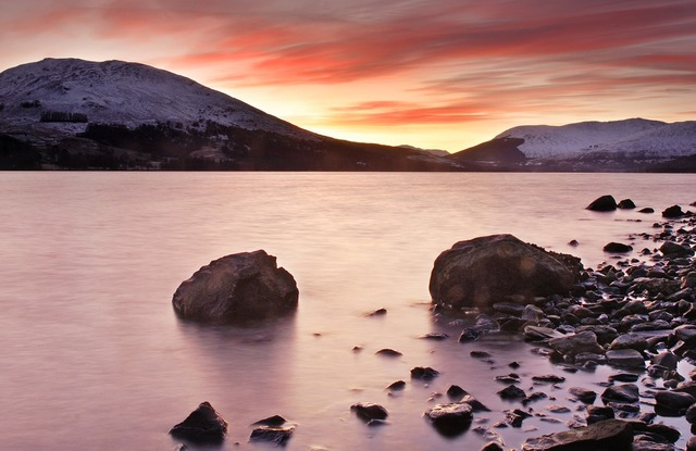 Loch earn scotland high, nature landscapes.