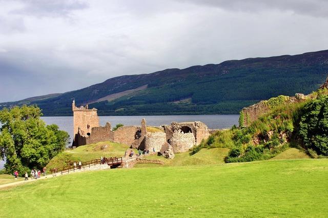 Loch ness urquhart castle scotland.