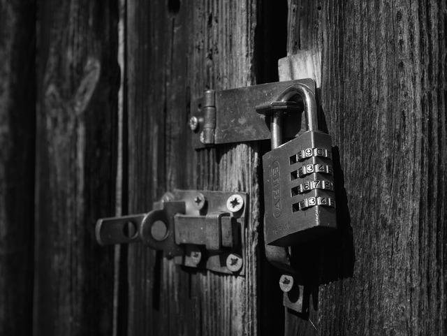 Lock locked secure.
