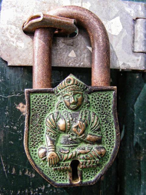 Lock padlock metal.