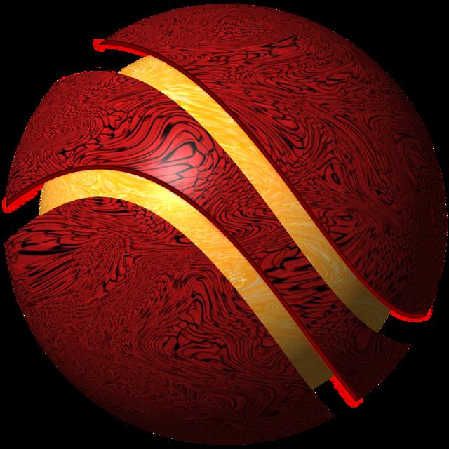 Logo sphere icon.