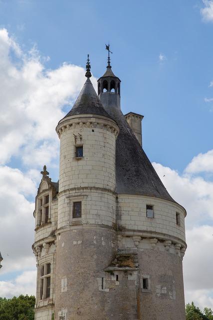 Loire castle renaissance, architecture buildings.
