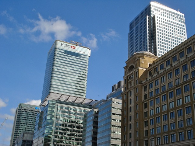 London docklands canary wharf, architecture buildings.