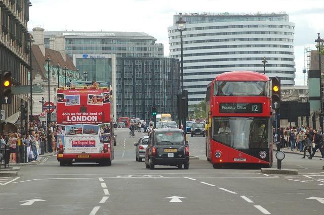 London england the london eye, transportation traffic.