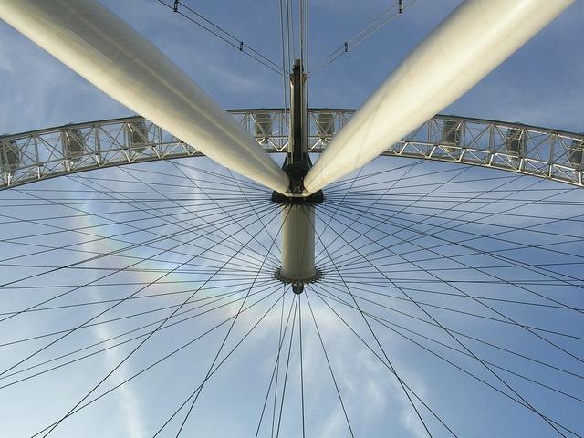 London eye attraction landmark, places monuments.