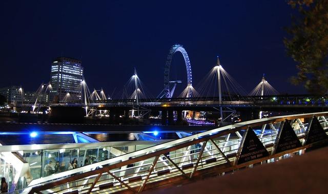 London eye river bridge.