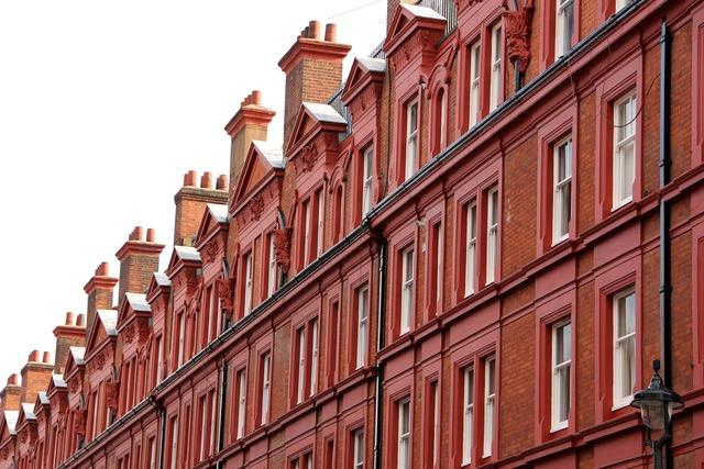 London facade chimney, architecture buildings.