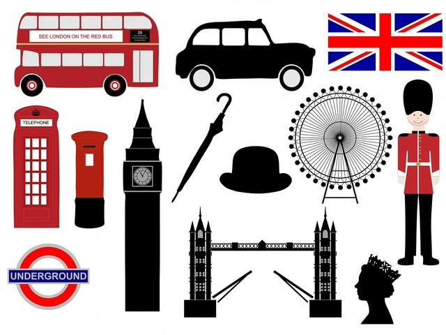 London icons symbols.