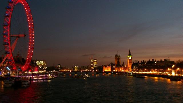 London london eye night.