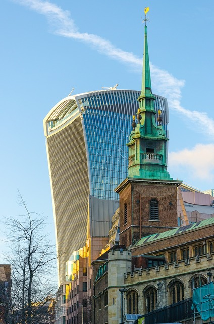 London walki-talkie skyscraper, religion.