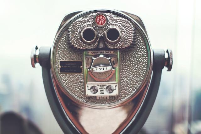 Looking glass binoculars, travel vacation.