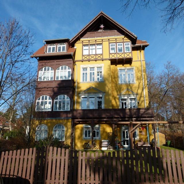Loschwitz cultural heritage monument, architecture buildings.