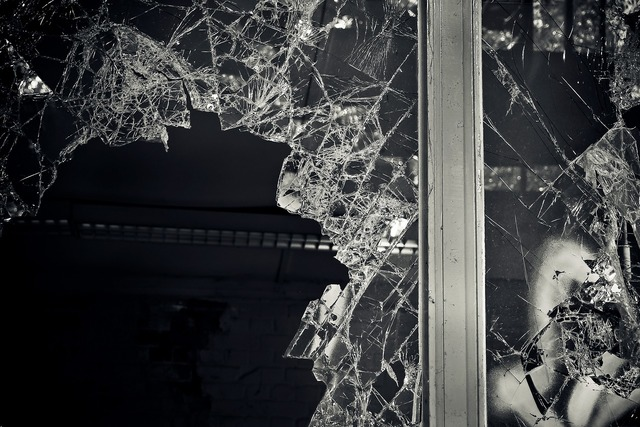 Lost places broken window, architecture buildings.